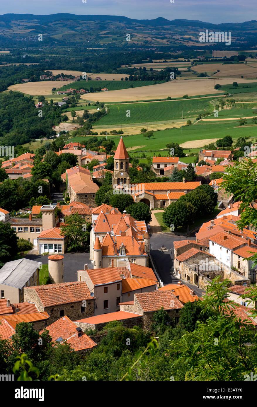 village of nonette,auvergne,france - Stock Image