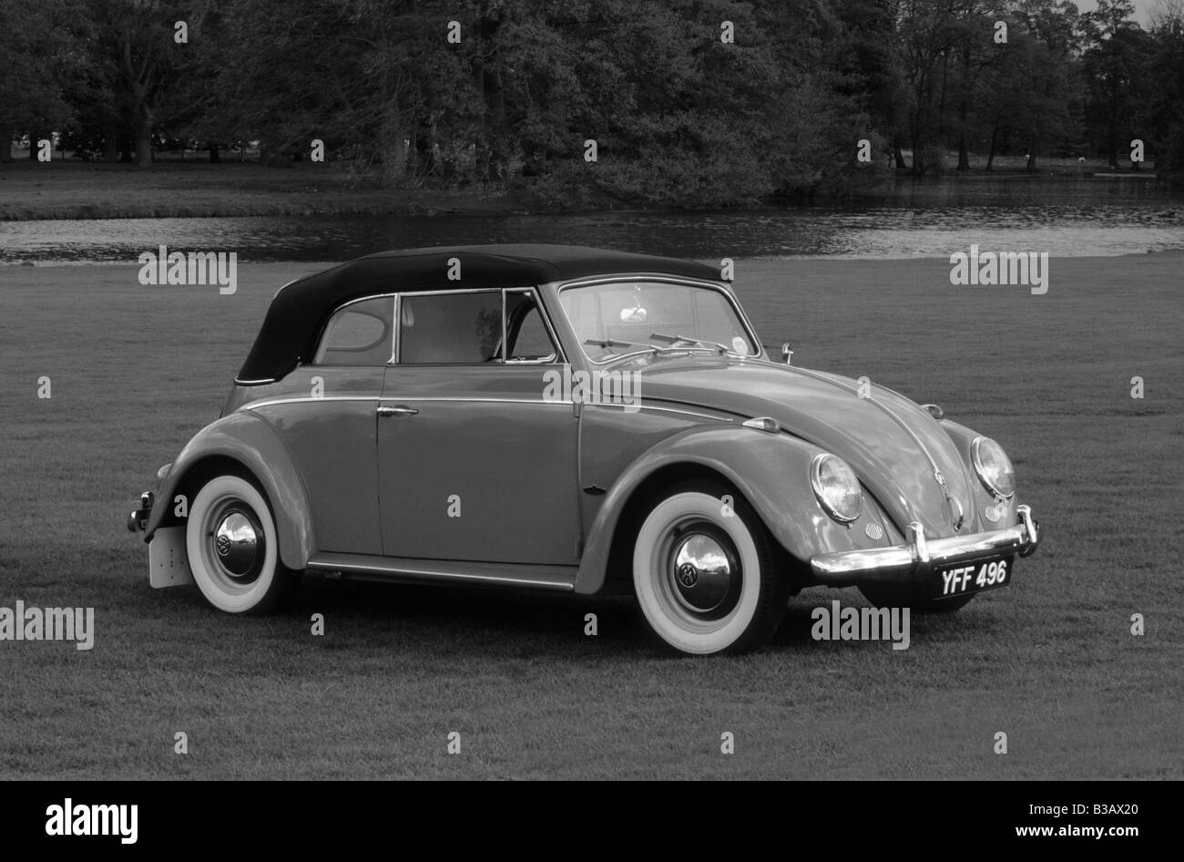 Volkswagen Beetle Cabriolet of 1961. Stock Photo