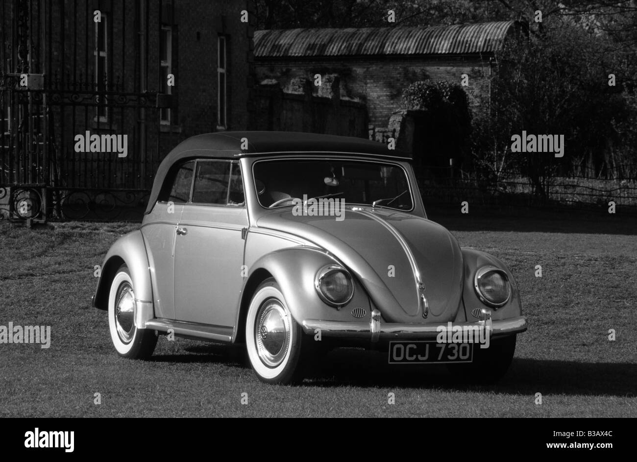 Volkswagen Beetle Cabriolet of 1956. Stock Photo