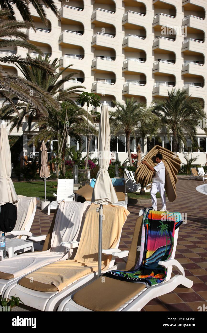 ESP Spain Canary Islands Fuerteventura Riu Palace Tres Islas Hotel Stock Photo