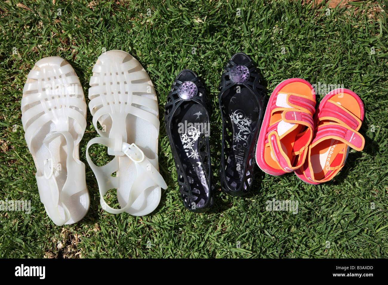 ESP Spain Canary Islands Fuerteventura beach shoes - Stock Image