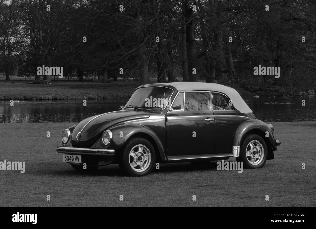 Volkswagen Beetle 1303 Cabriolet. - Stock Image