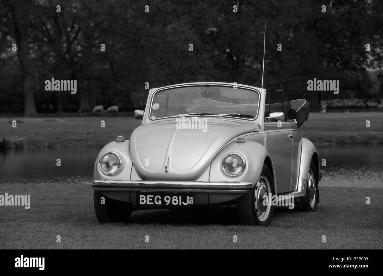Volkswagen Beetle 1302 LS Cabriolet. - Stock Image