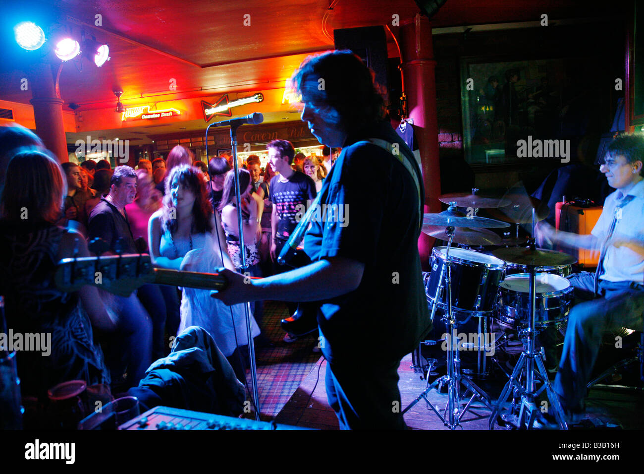 July 2008 - Live music show at the Cavern pub Liverpool England UK - Stock Image