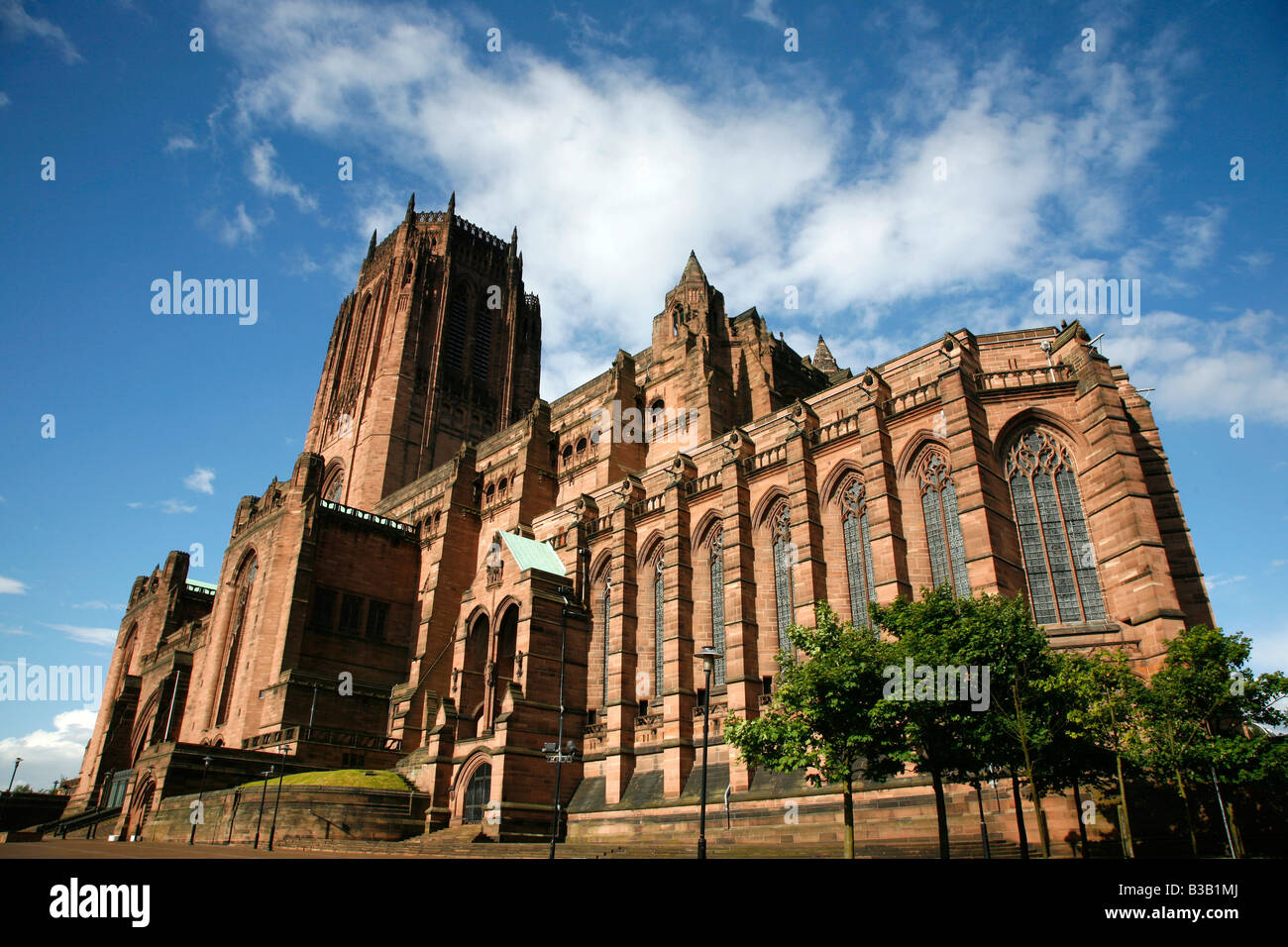 July 2008 - Liverpool Anglican Cathedral Liverpool England UK - Stock Image