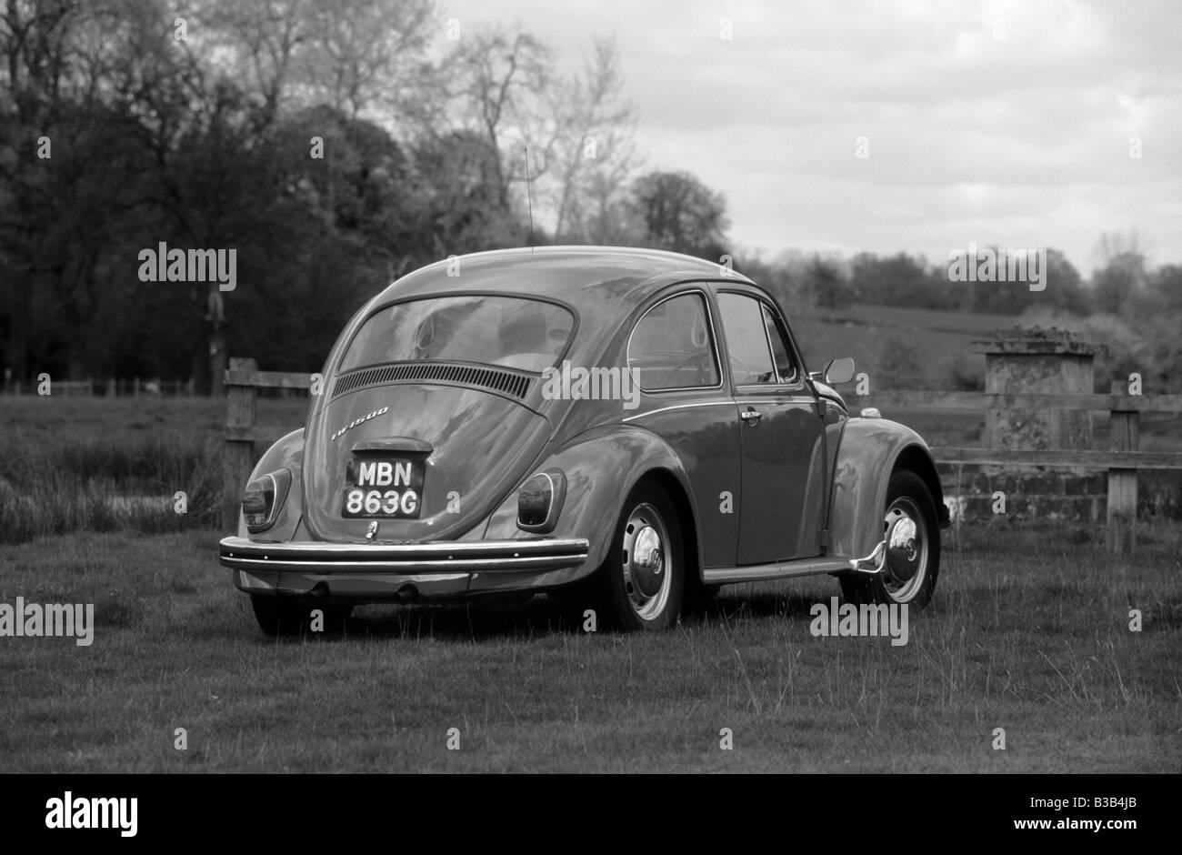 Volkswagen Beetle 1500 of 1968. - Stock Image