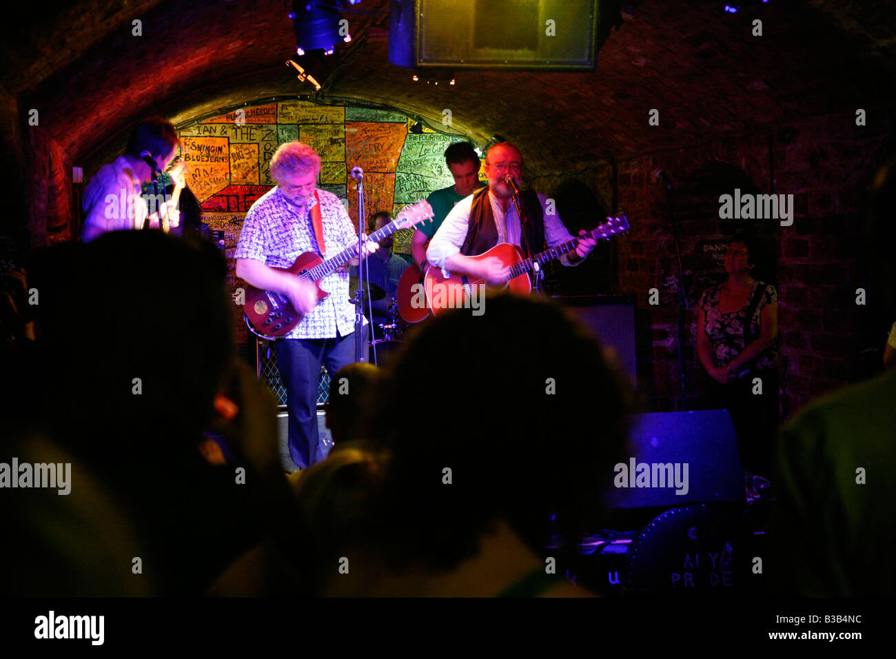 July 2008 - Live music show at the Cavern club Liverpool England UK - Stock Image