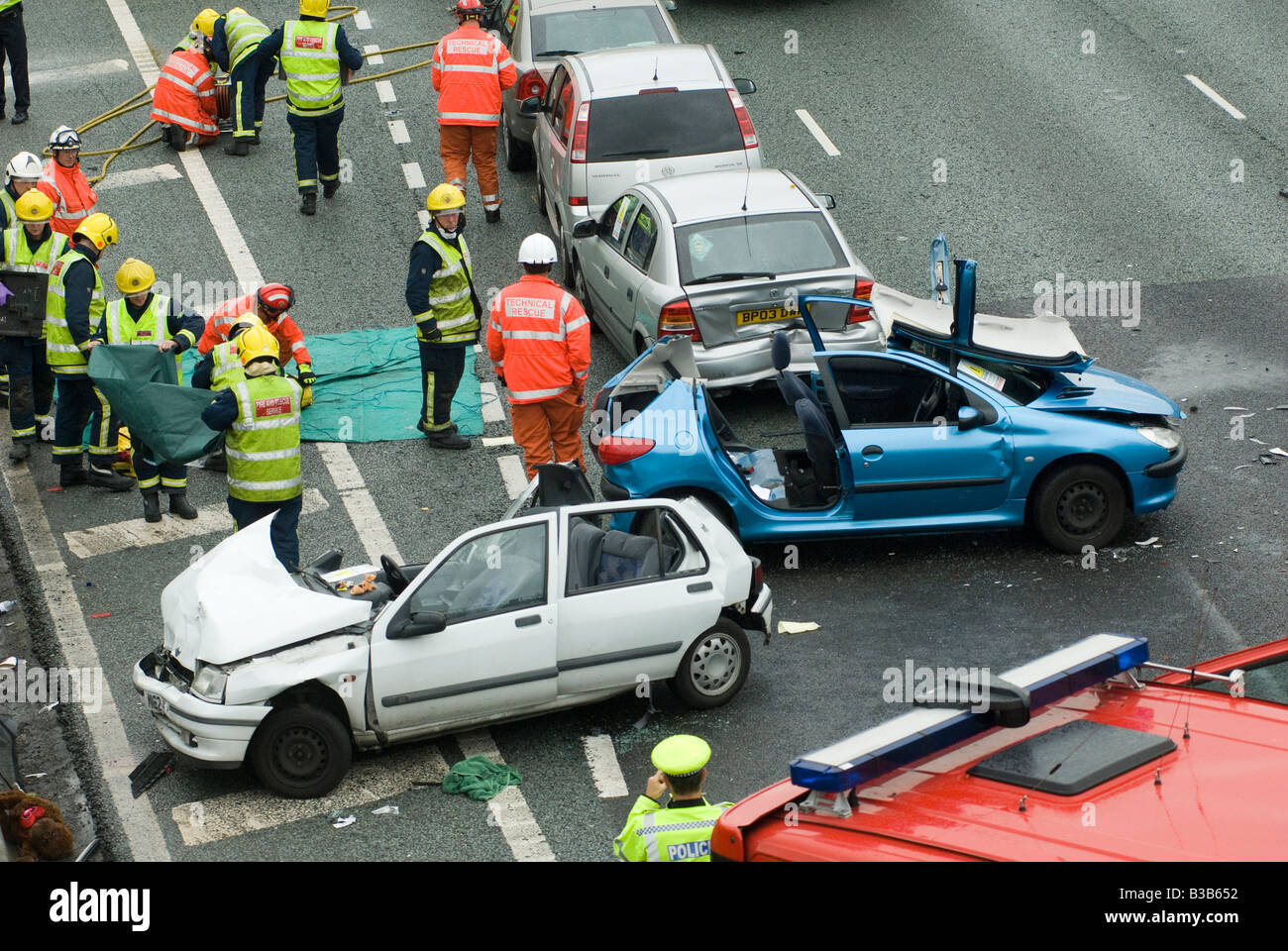 Crash On Motorway Stock Photos & Crash On Motorway Stock