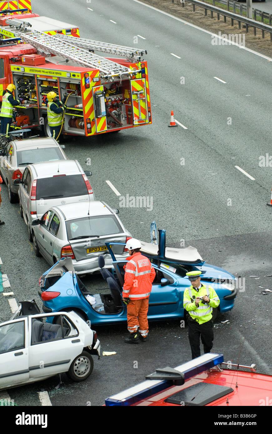 Crash On Motorway Stock Photos & Crash On Motorway Stock Images - Alamy