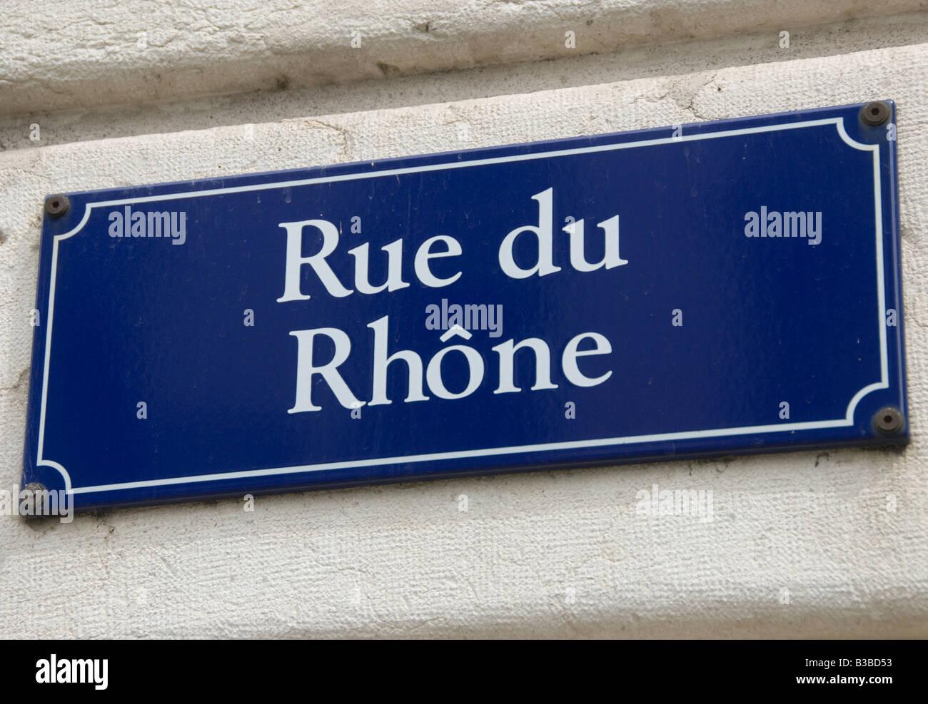 Rue de Rhone - Stock Image