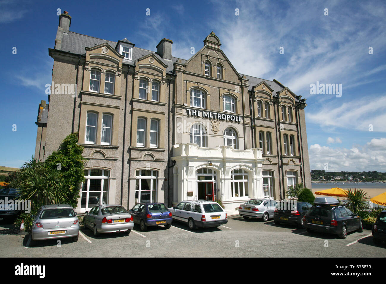 The Metropole Hotel, Padstow, Cornwall - Stock Image