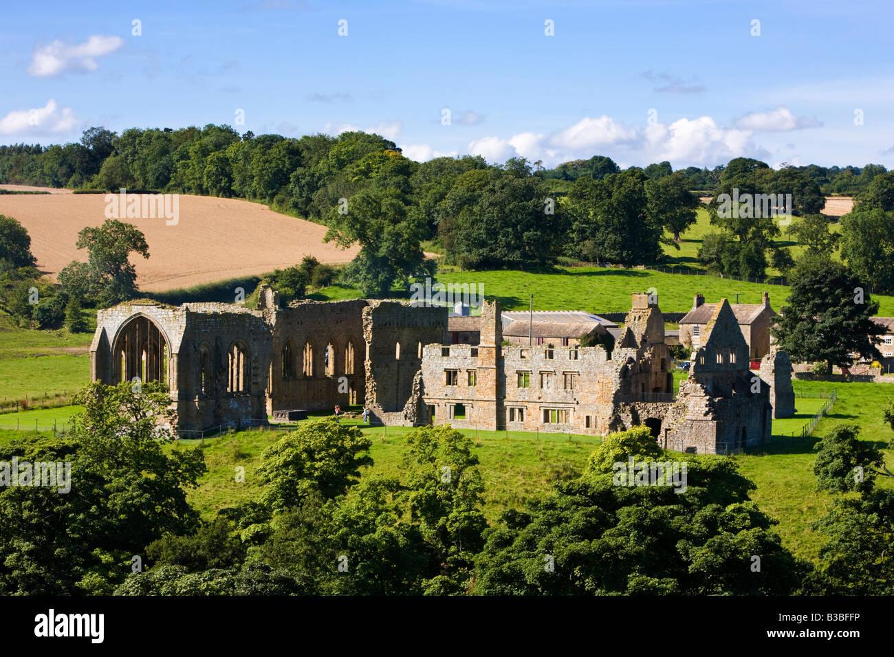 Ruins of Egglestone Abbey, County Durham, England, UK - Stock Image