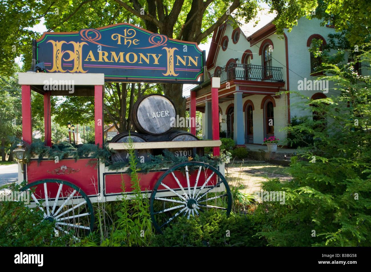 Quaint Harmony Pennsylvania former religious communal society of Rappites aka Harmonists - Stock Image