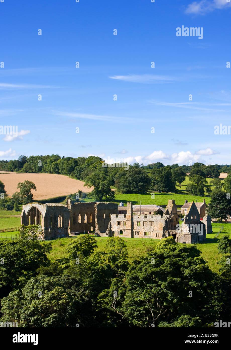 Ruins of Egglestone Abbey, Teesdale, County Durham, England, UK - Stock Image