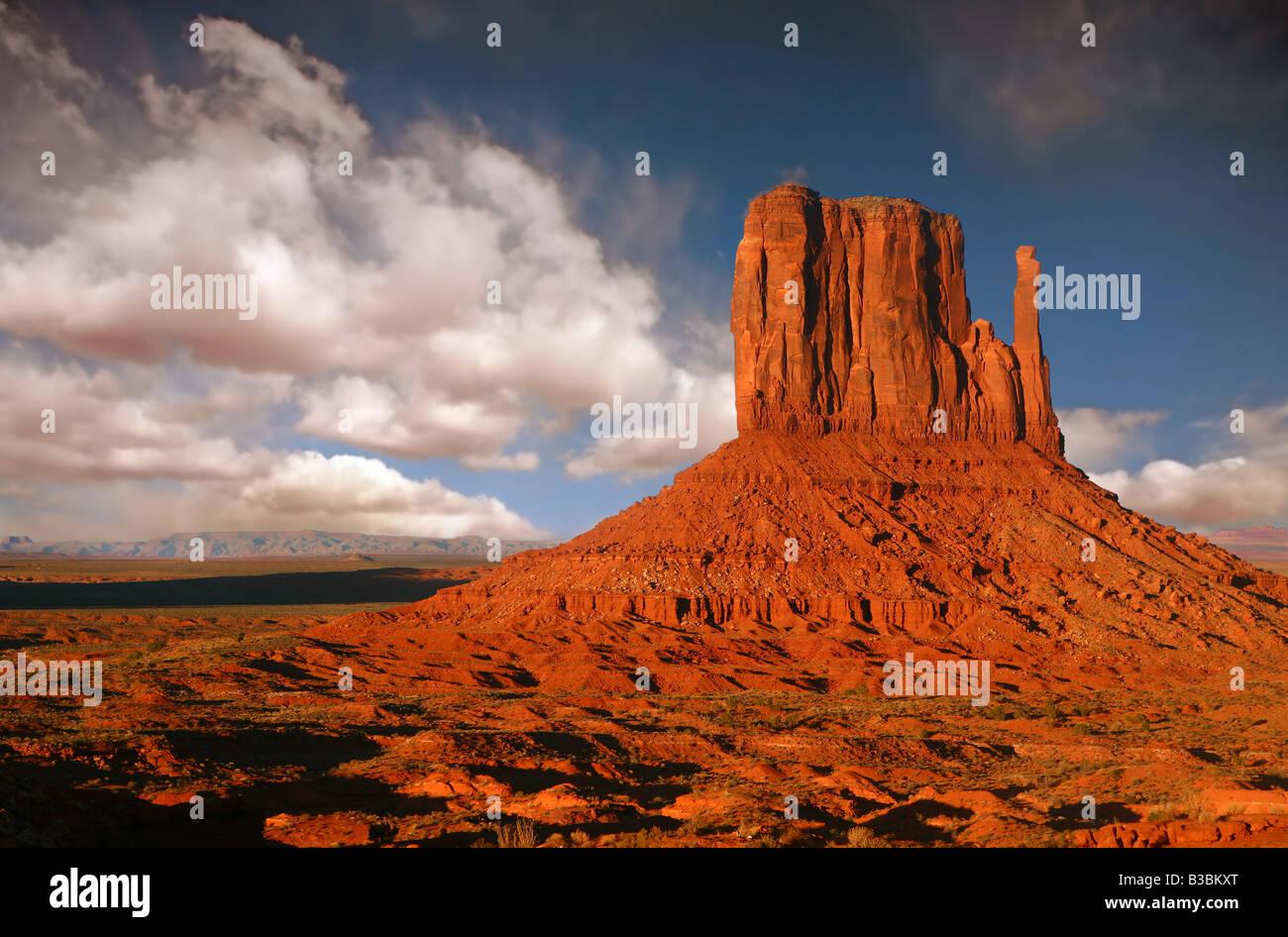 Striking Landscape in Monument Valley Navajo Nation Arizona - Stock Image