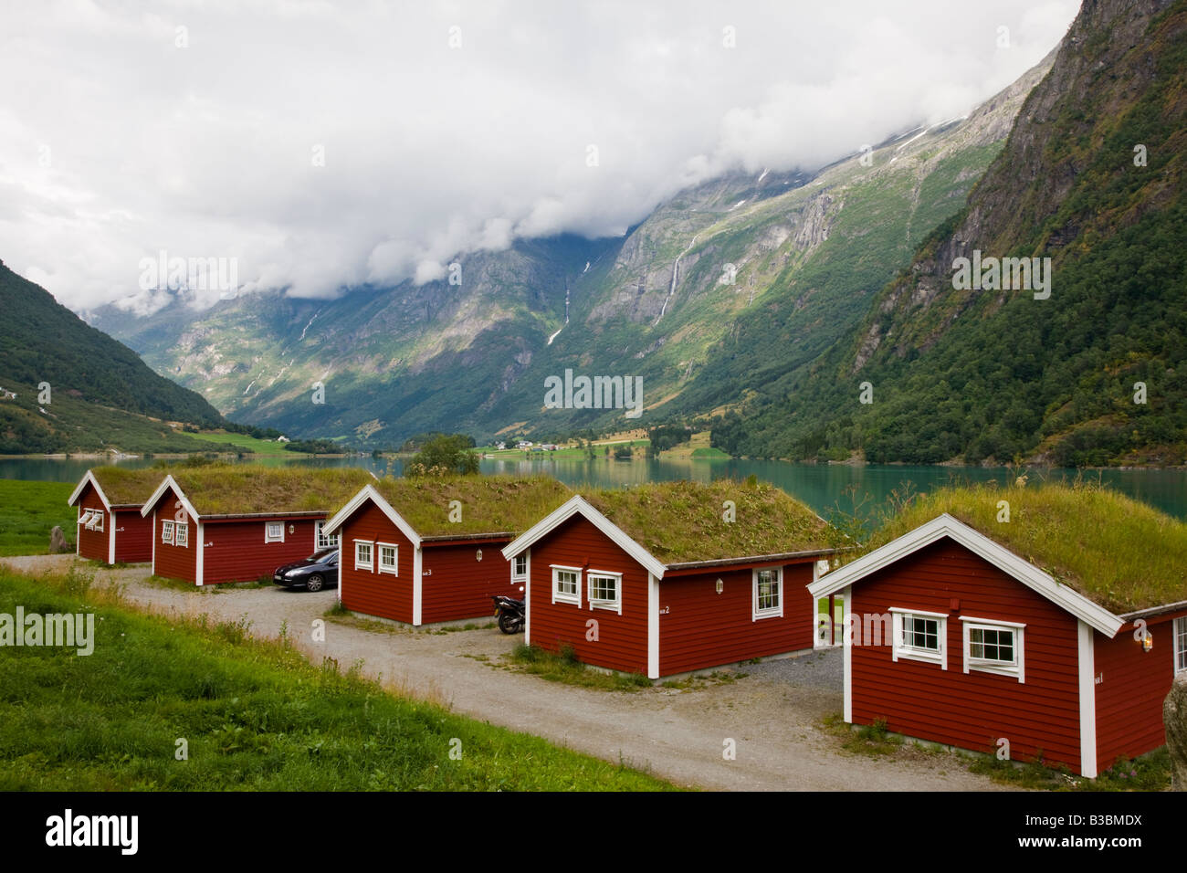 Awe Inspiring Campground Cottages With Grass Roofs Fjaerland Norway Interior Design Ideas Clesiryabchikinfo
