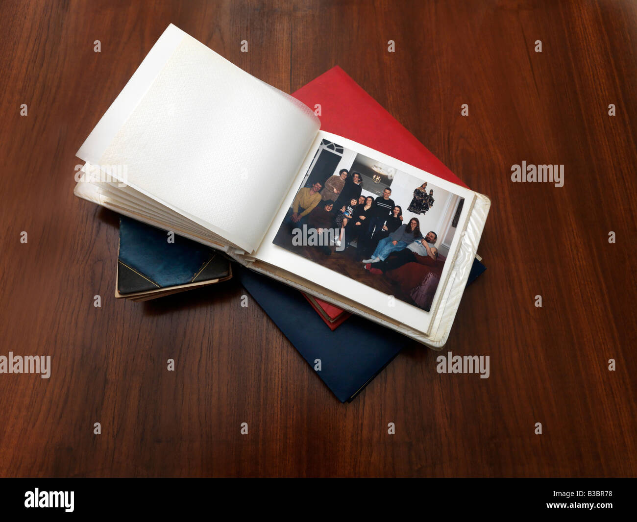 Pile of Photo Albums - Stock Image