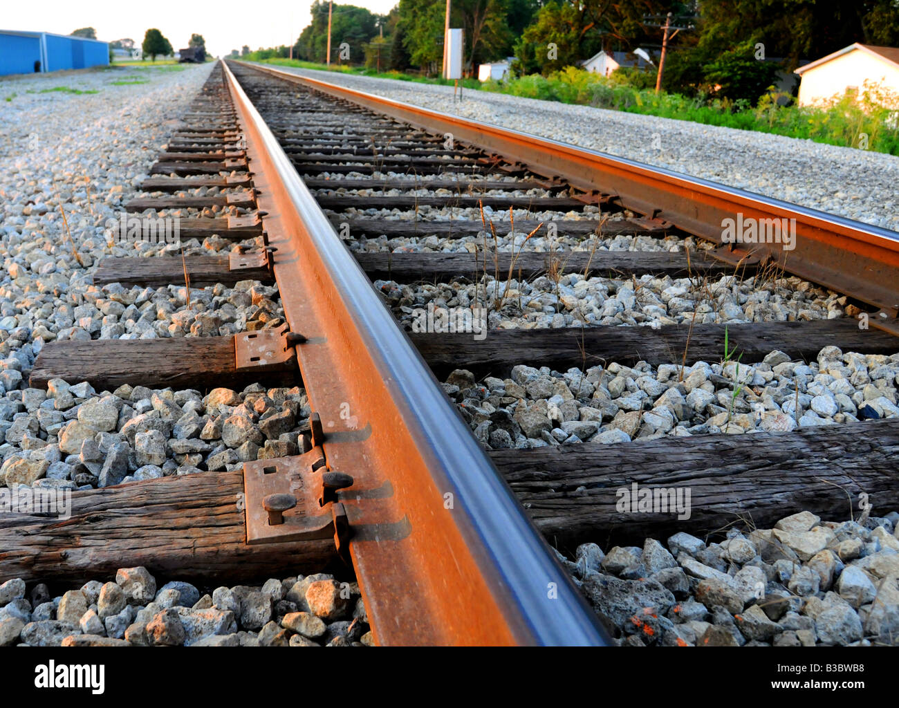 Railroad tracks - Stock Image