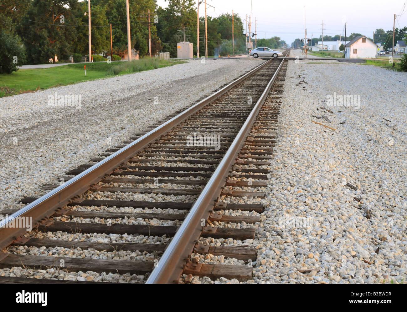Railroad tracks - Stock Image