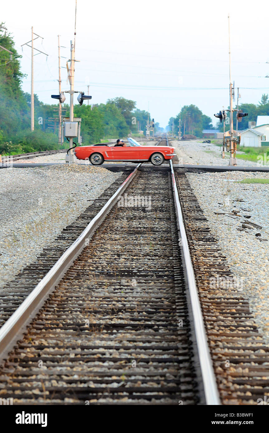 Vintage Freight Train And Tracks Stock Photos & Vintage