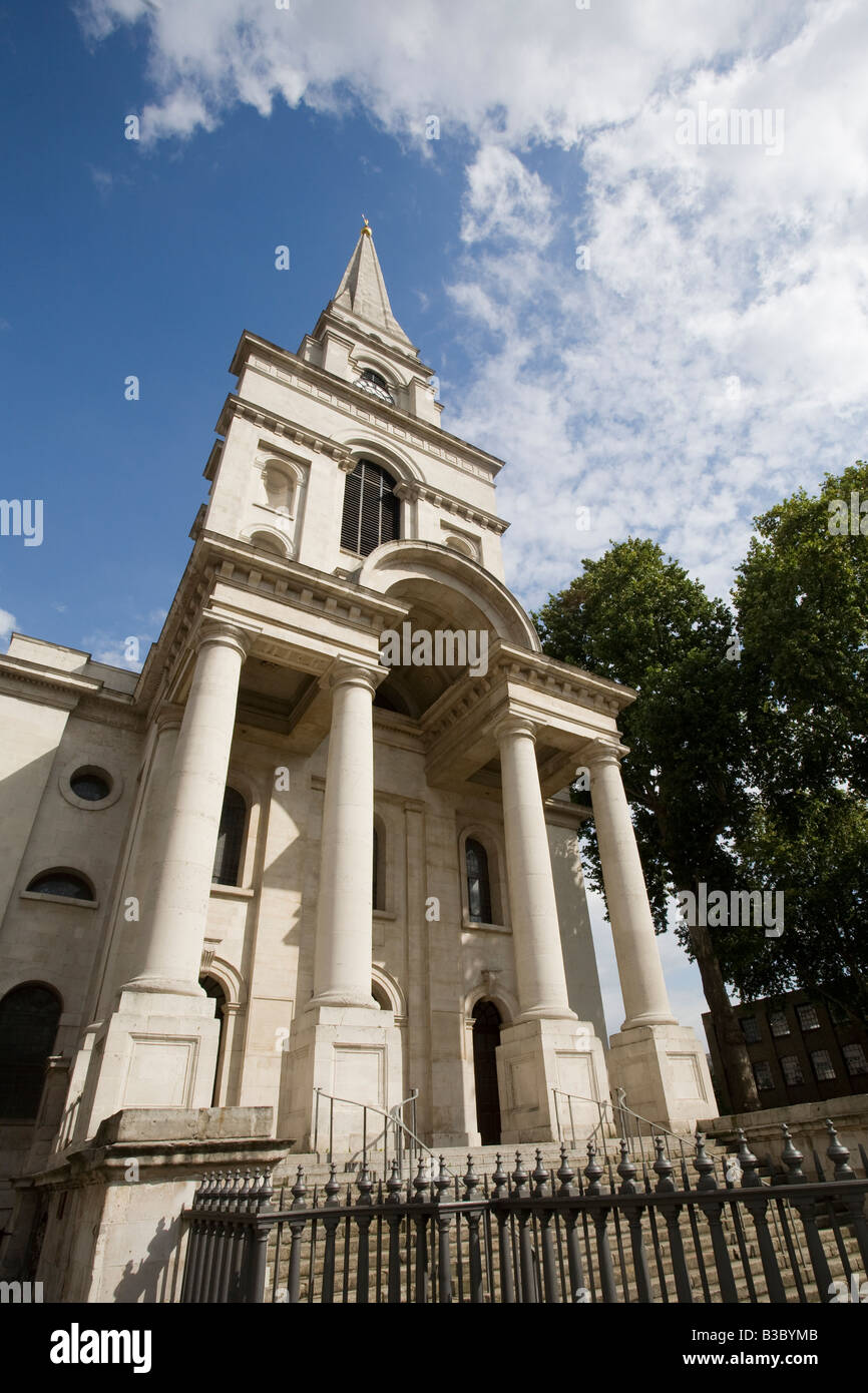 Christchurch Spitalfields. Tower Hamlets, London, England Stock Photo
