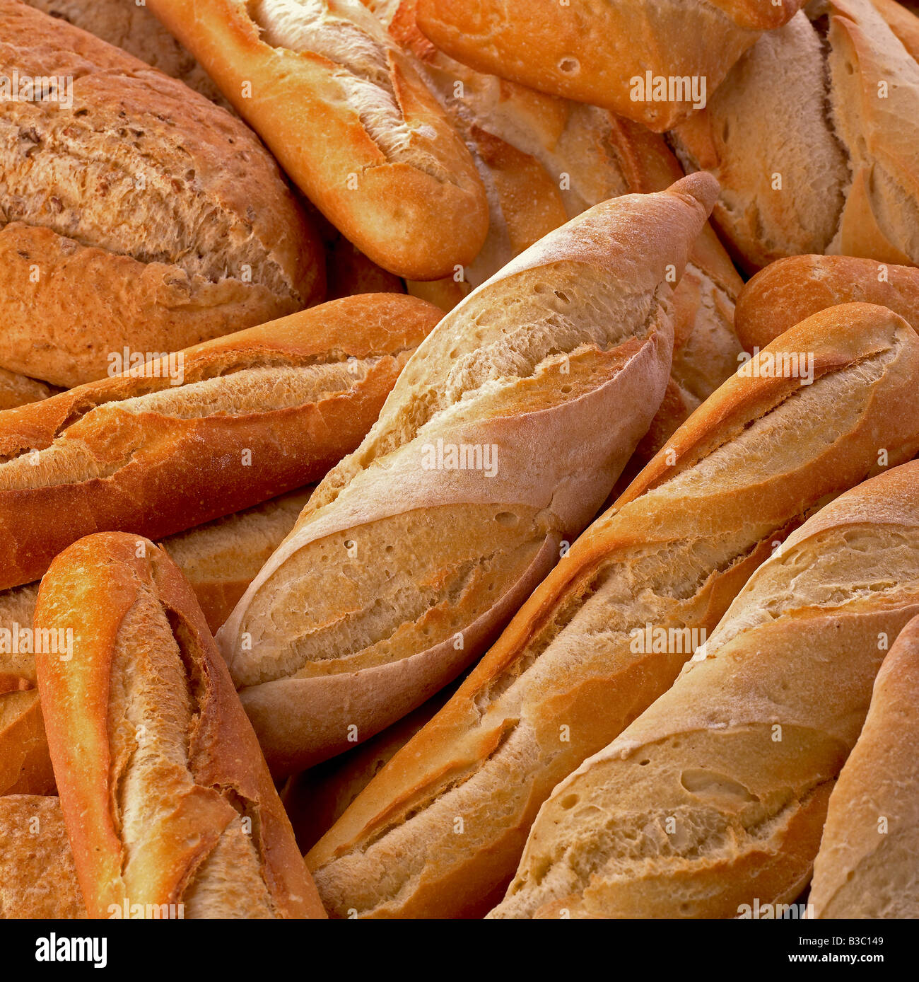 Loaves of rustic bread - Stock Image