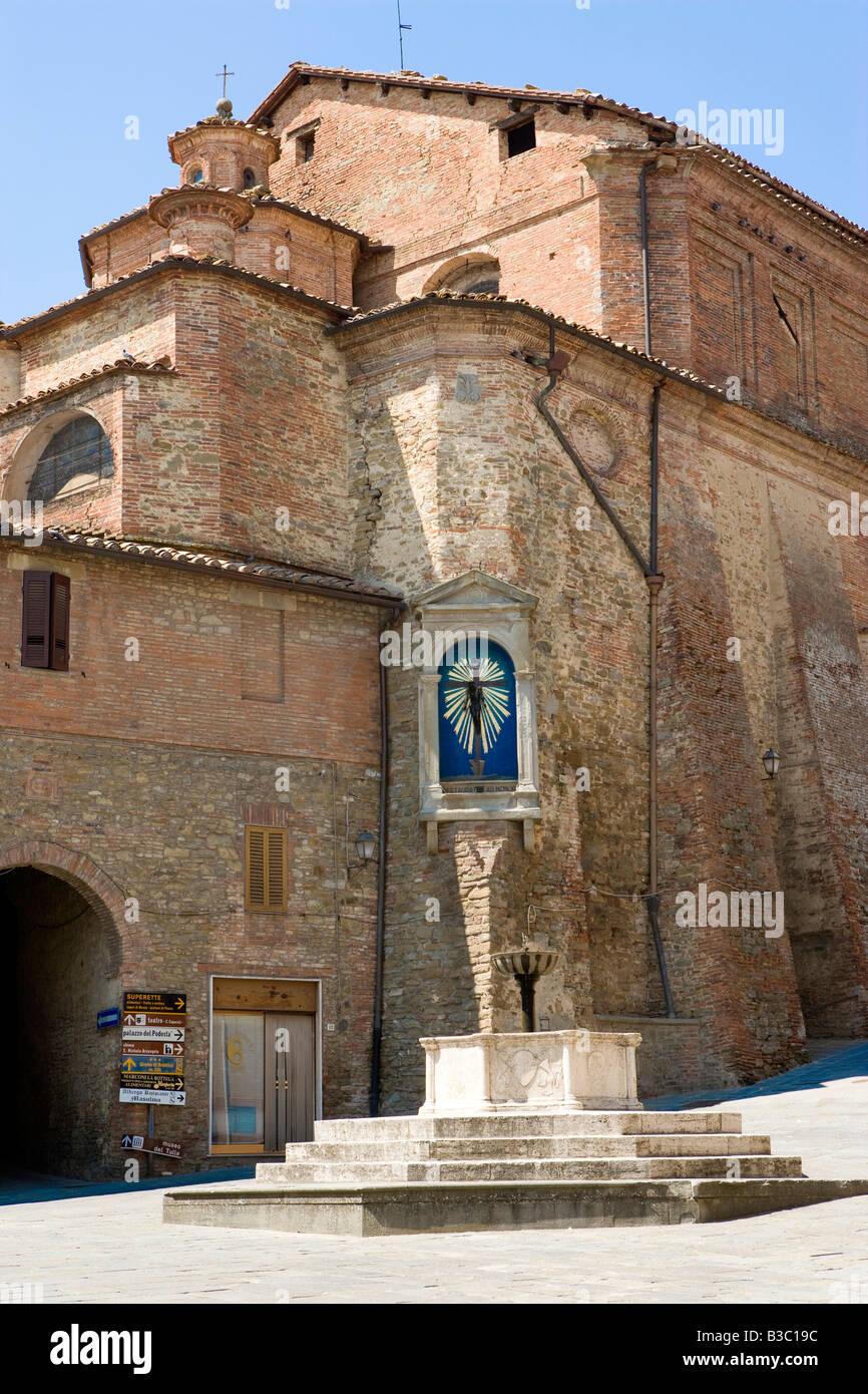 Church in Panicale umbria Italy italia stockitalia - Stock Image