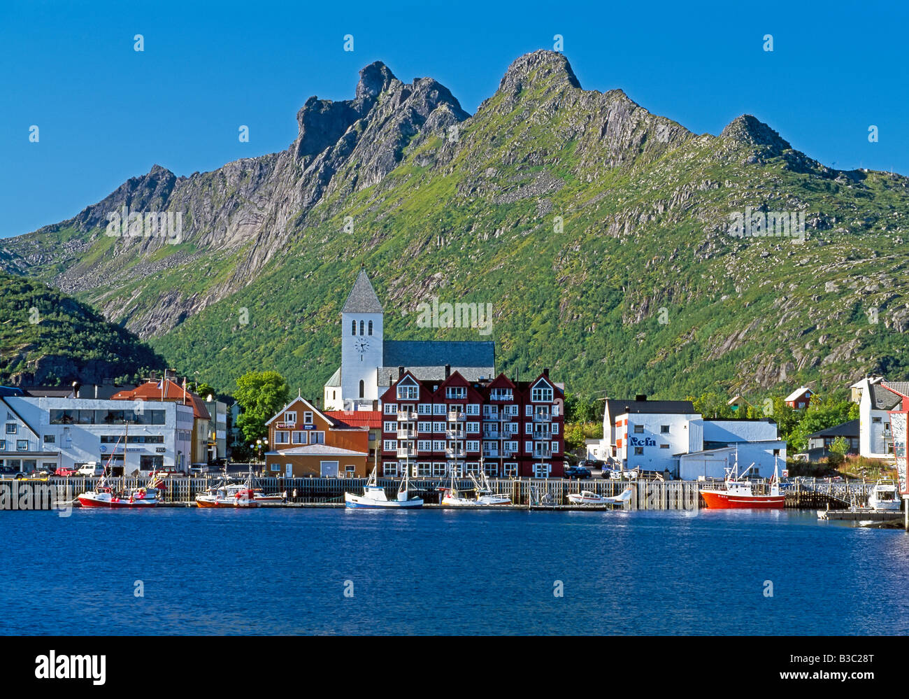Norway, Nordland, Lofoten Islands, Town of SvolvaerStock Photo