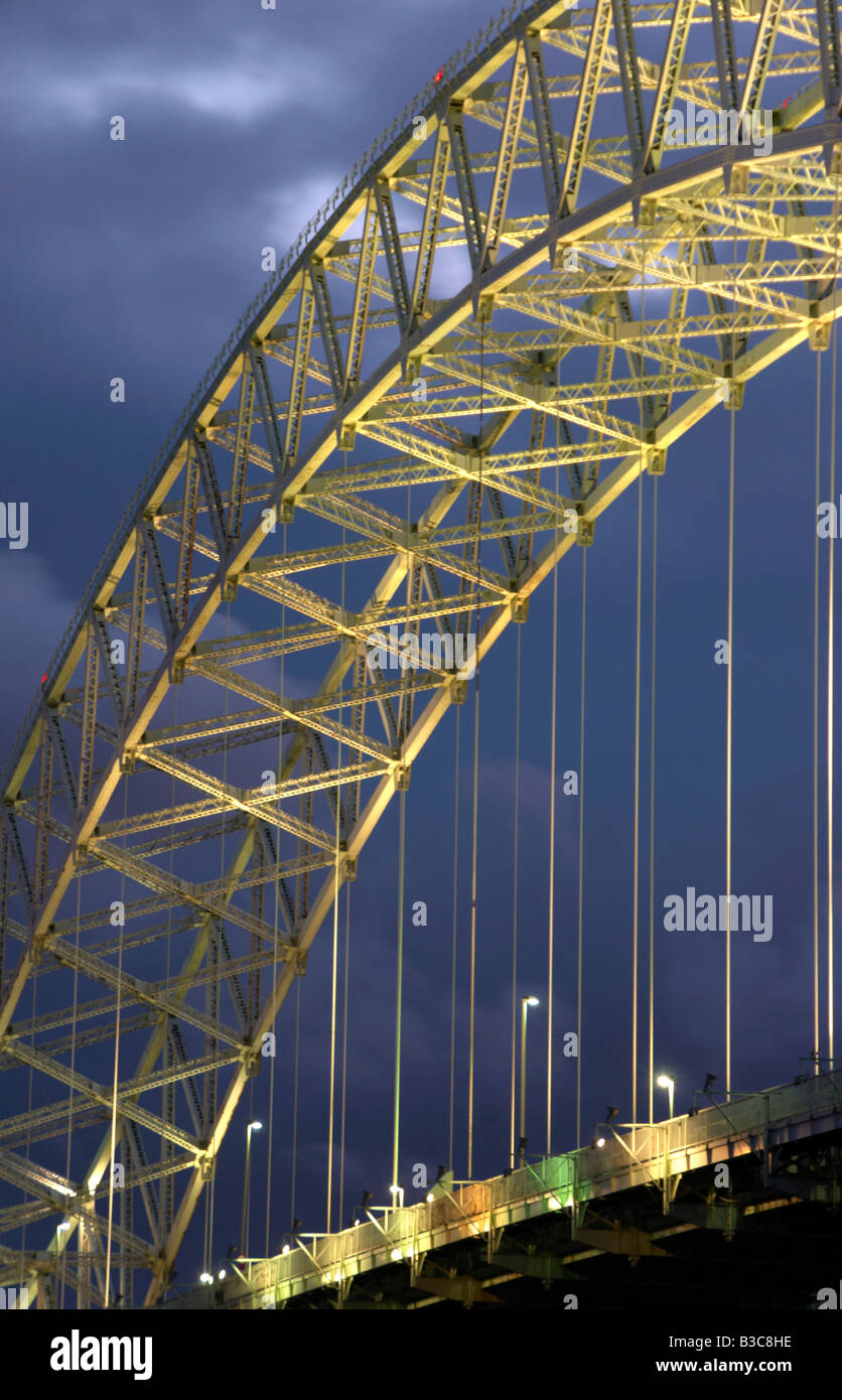 The Runcorn Road Bridge Runcorn Cheshire UK Stock Photo