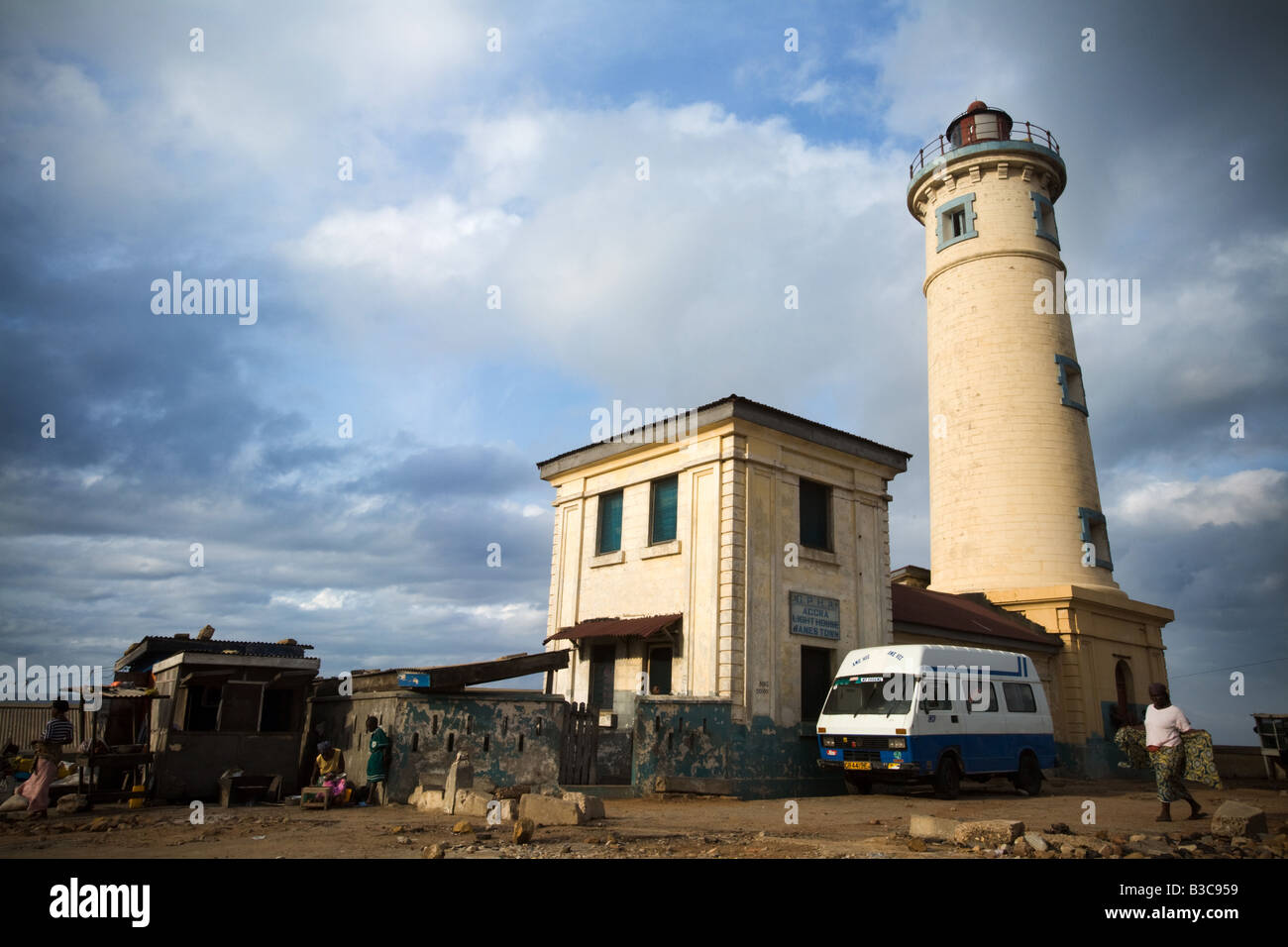 Jamestown lighthouse Jamestown Accra Ghana - Stock Image