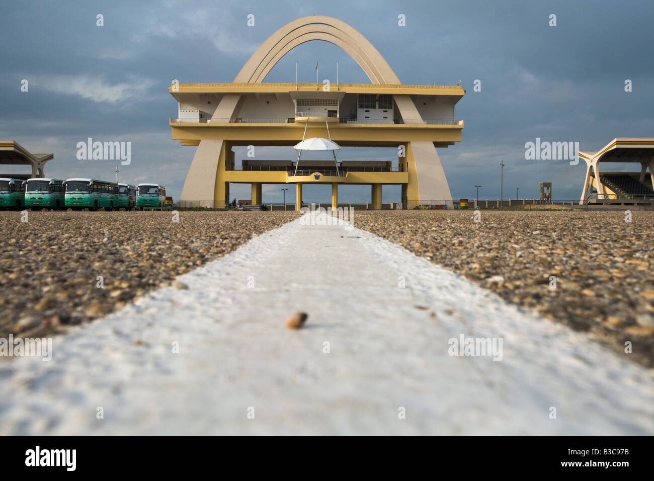 View of Independence square in Accra Ghana Stock Photo