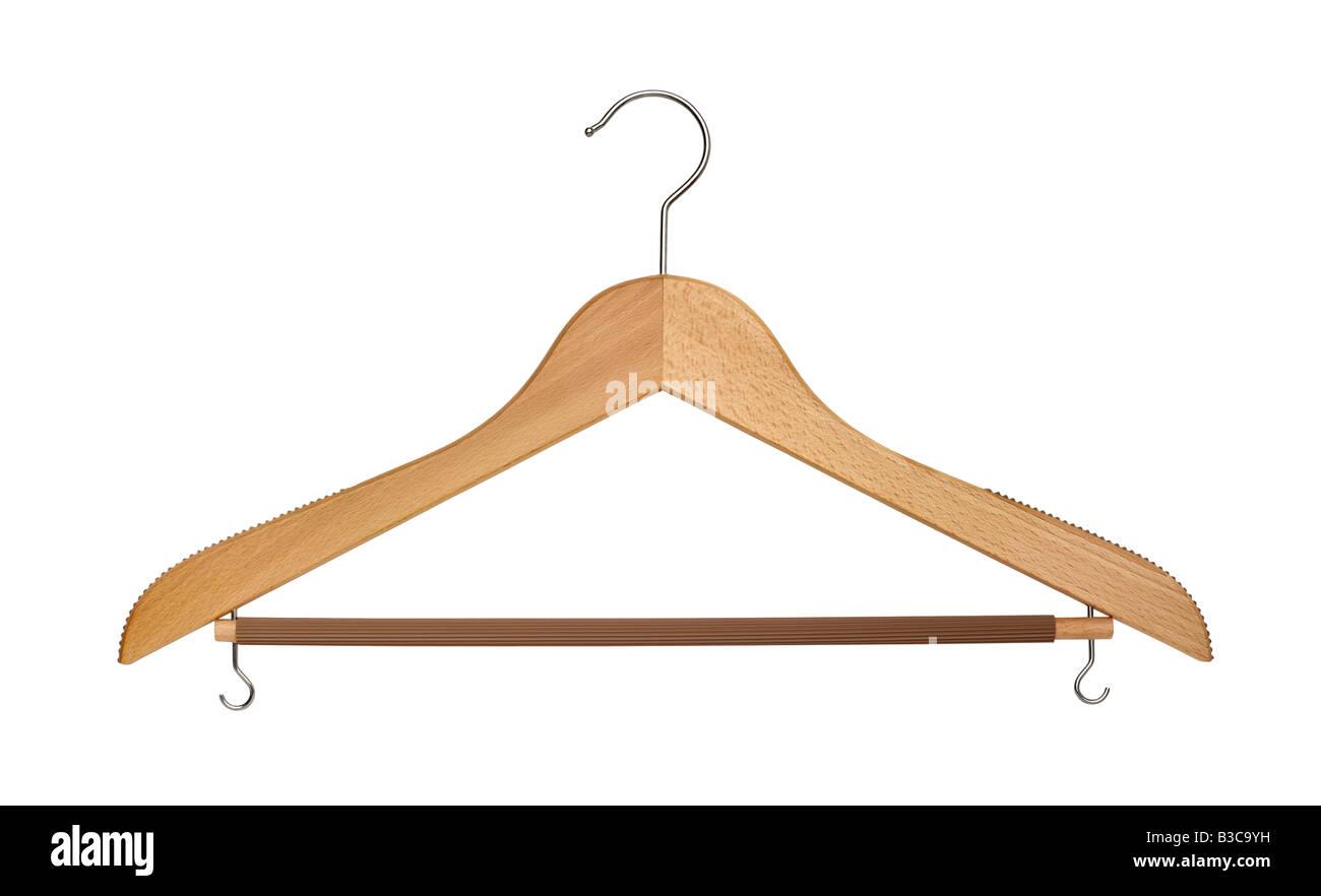 Coat hanger isolated on white background - Stock Image