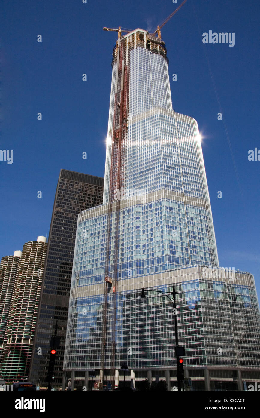 The Trump International Hotel and Tower. Chicago Buildings Architecture. - Stock Image