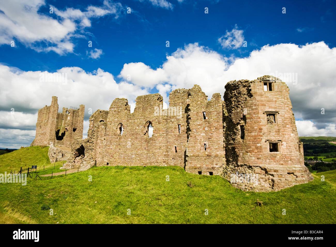 Ruins of Brough Castle in Cumbria, England, UK - Stock Image