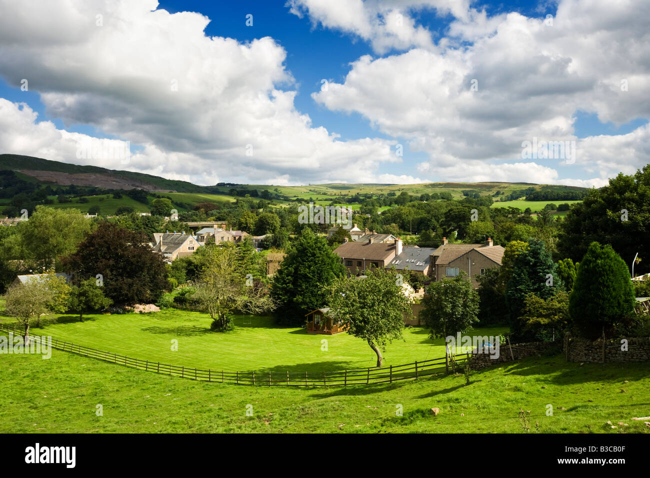Small town of Brough in Teesdale, Cumbria, England, UK - Stock Image