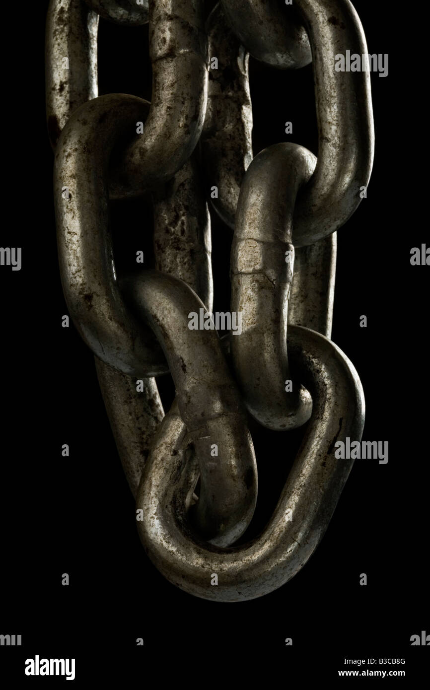 A Heavy thick strong metal Chain - Stock Image