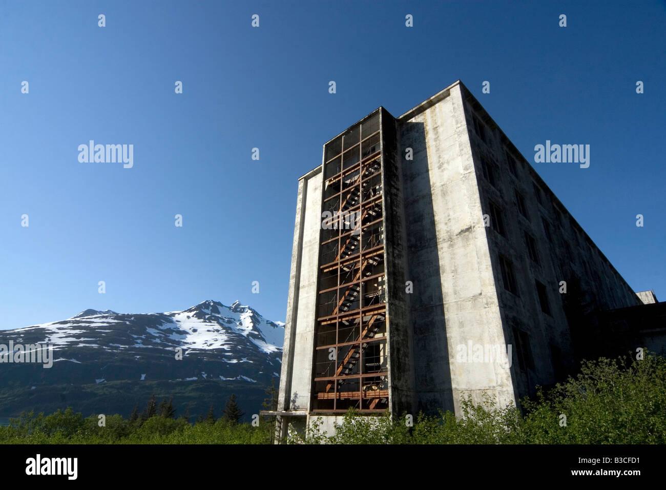 The Buckner Building Whittier Alaska - Stock Image