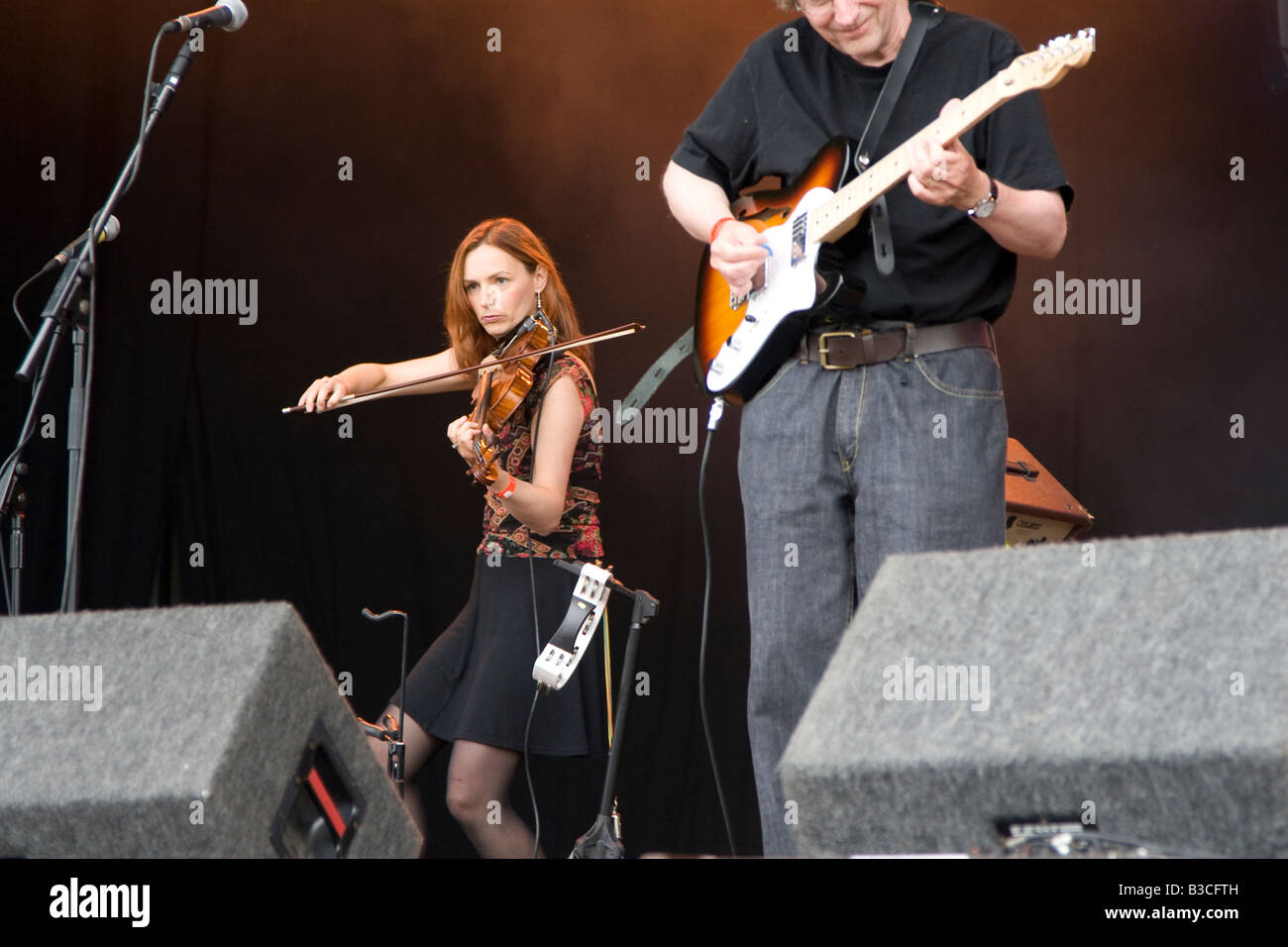 Stackridge on stage at Fairport's Cropredy Convention music festival 2008 near Banbury England UK - Stock Image