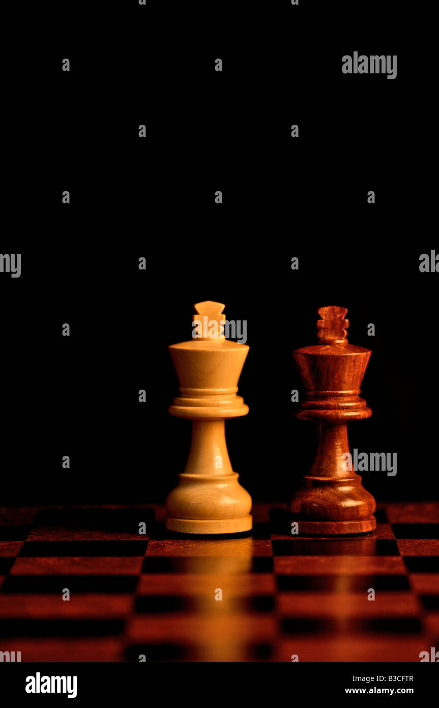 Two King chess pieces - Stock Image