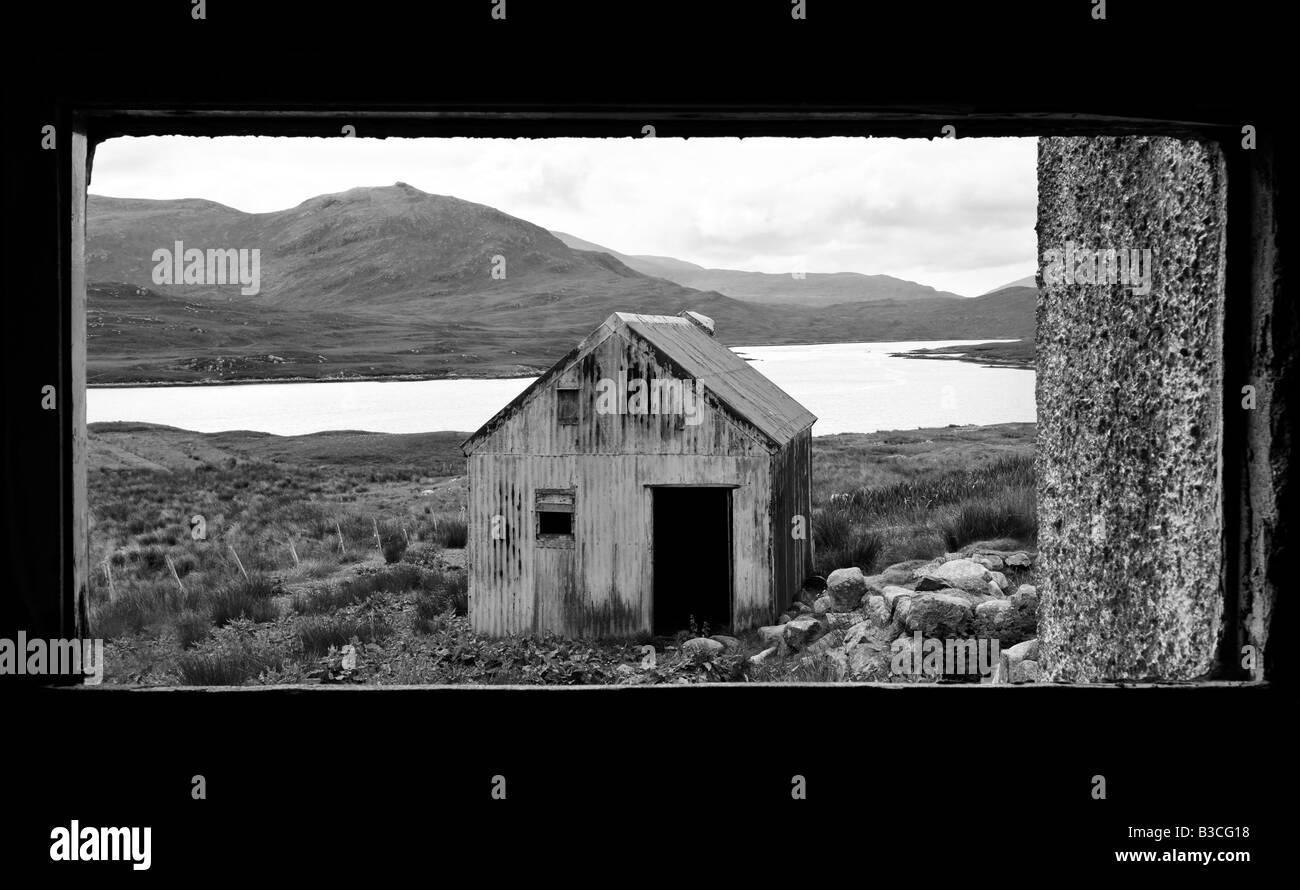 'A View through the window', Isle of Lewis, Hebrides, Scotland, UK - Stock Image