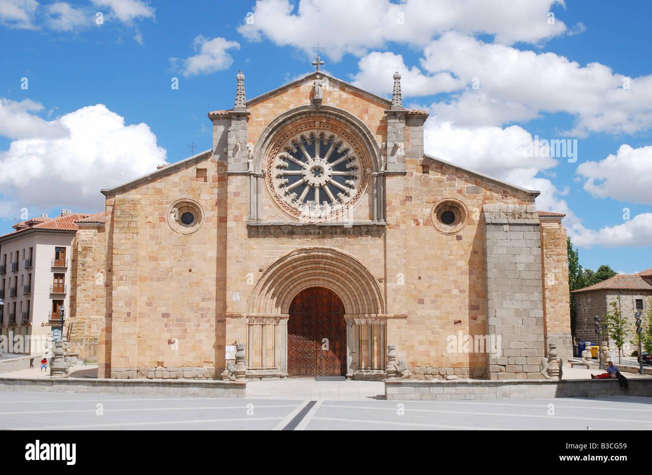 San Pedro church. Avila. Castile Leon. Spain. - Stock Image