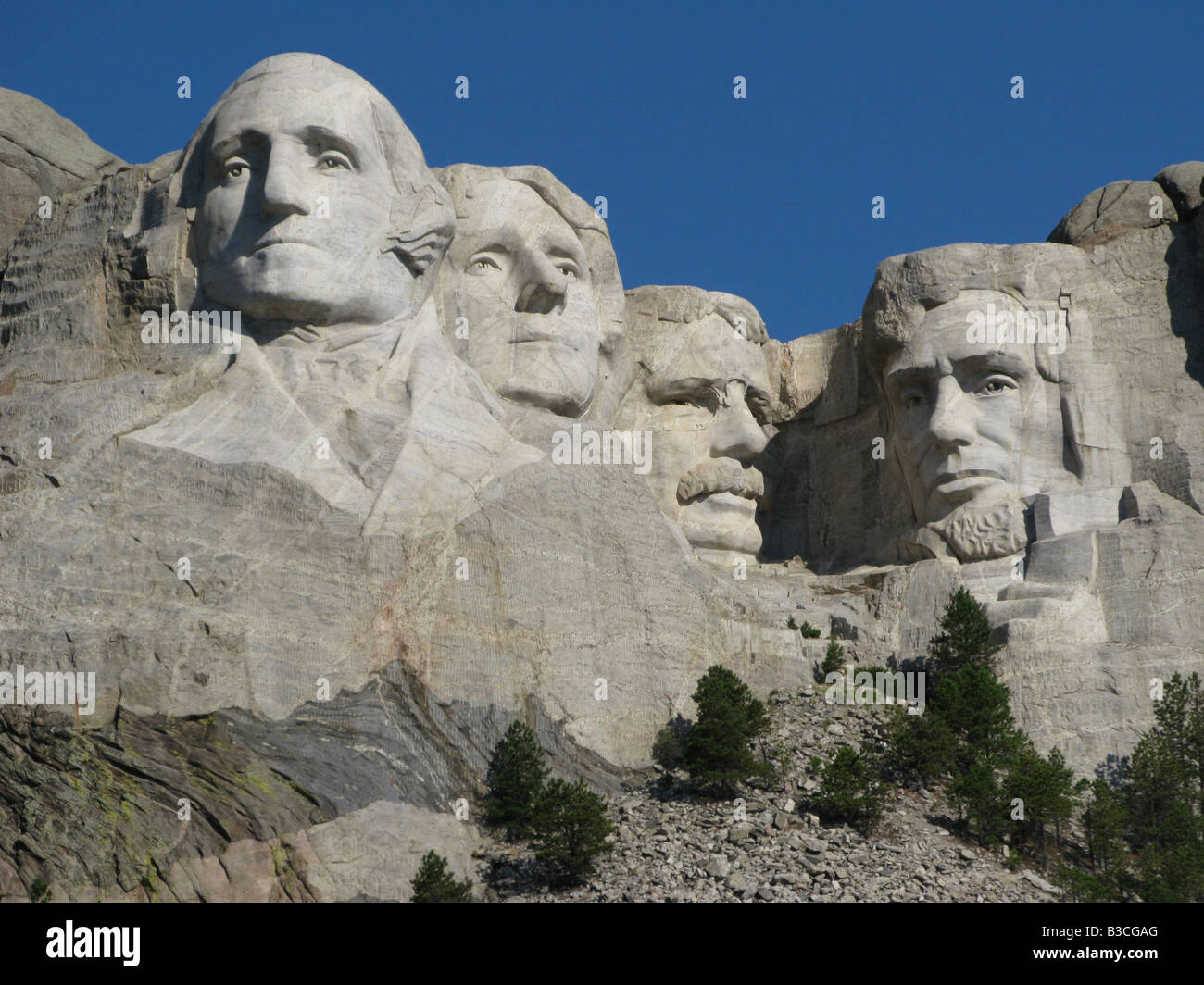 The Mount Rushmore National Memorial located near Keystone, South Dakotam United States.  A very popular tourist Stock Photo