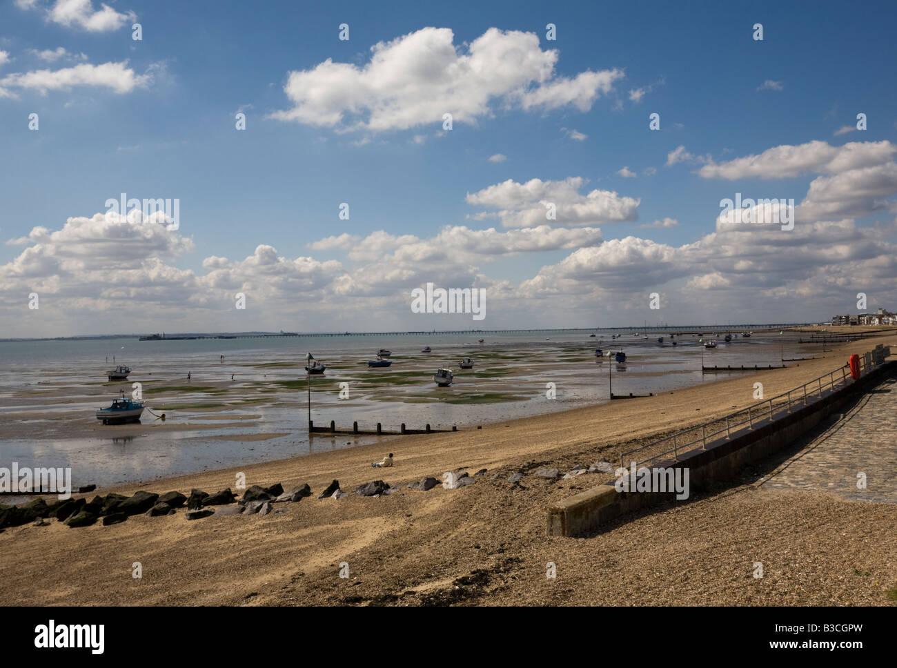 The beach at Shoeburyness Southend on Sea Essex GB UK Stock Photo