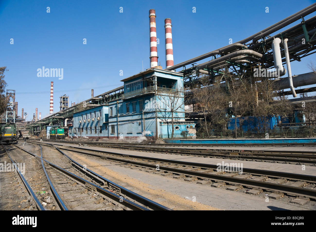 Industrial landscape - Stock Image