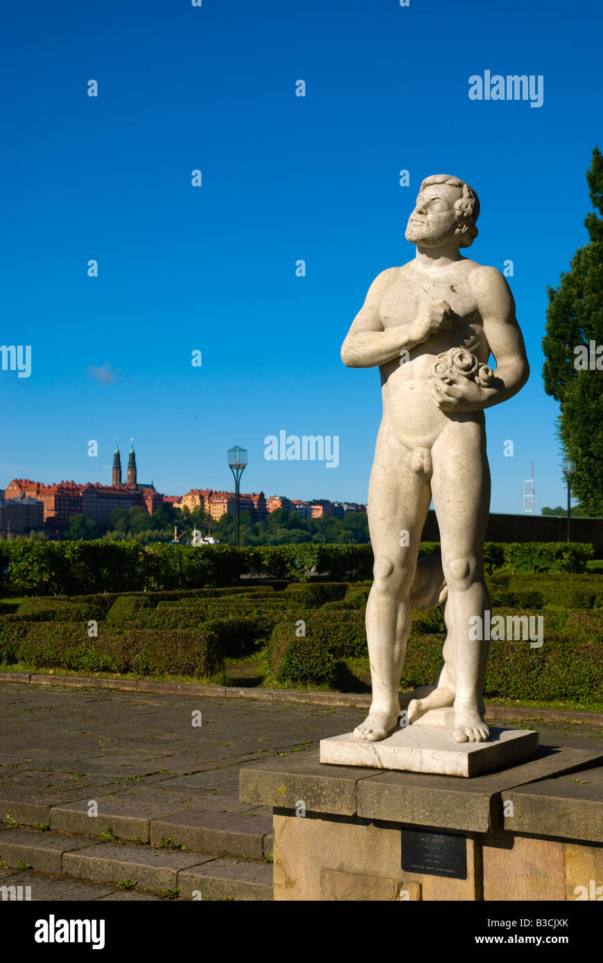 Statue outside Town Hall in Stockholm Sweden Europe Stock Photo