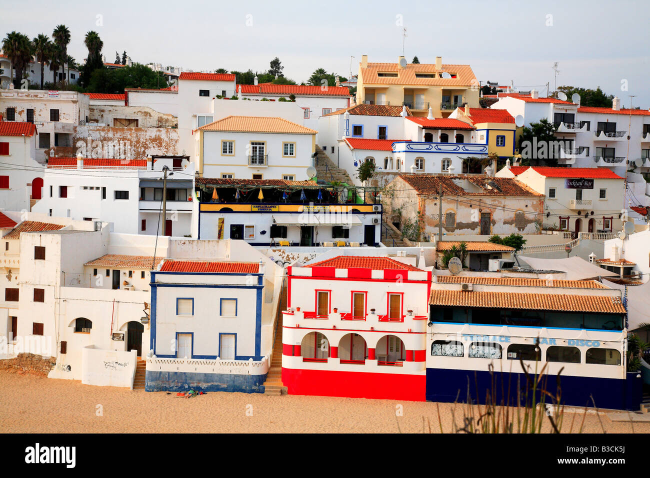 fishing village of Carvoeiro Algarve Portugal Stock Photo