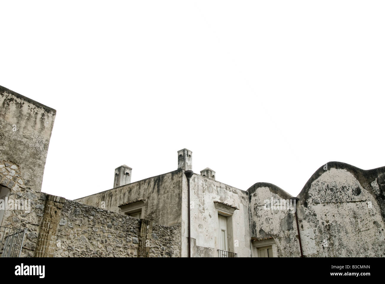 Rooftops on Grey Overcast Day. Ravello,  Italy - Stock Image