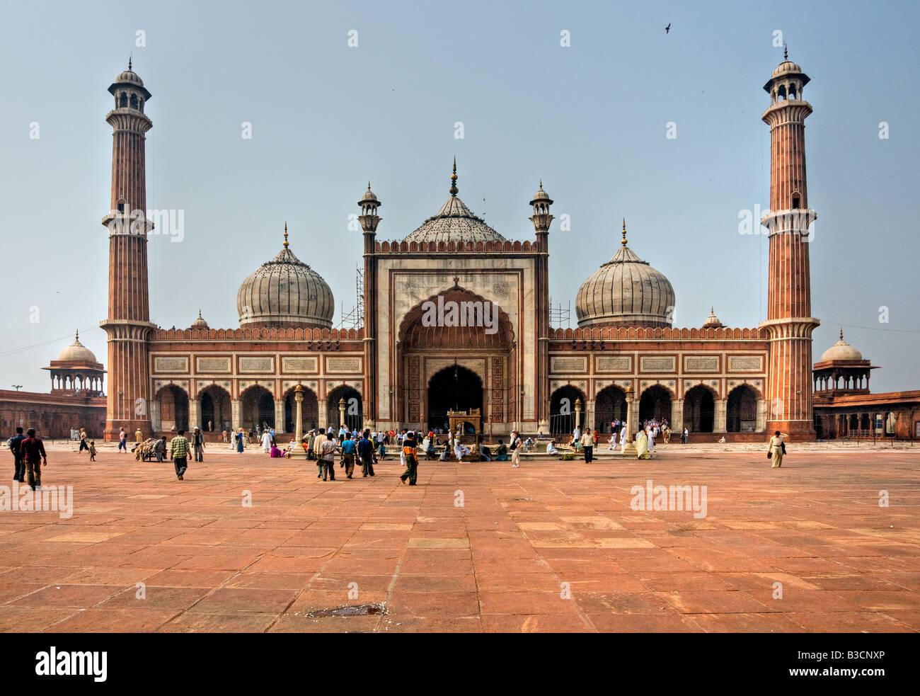 Jama Masjid Mosque old Delhi India Stock Photo