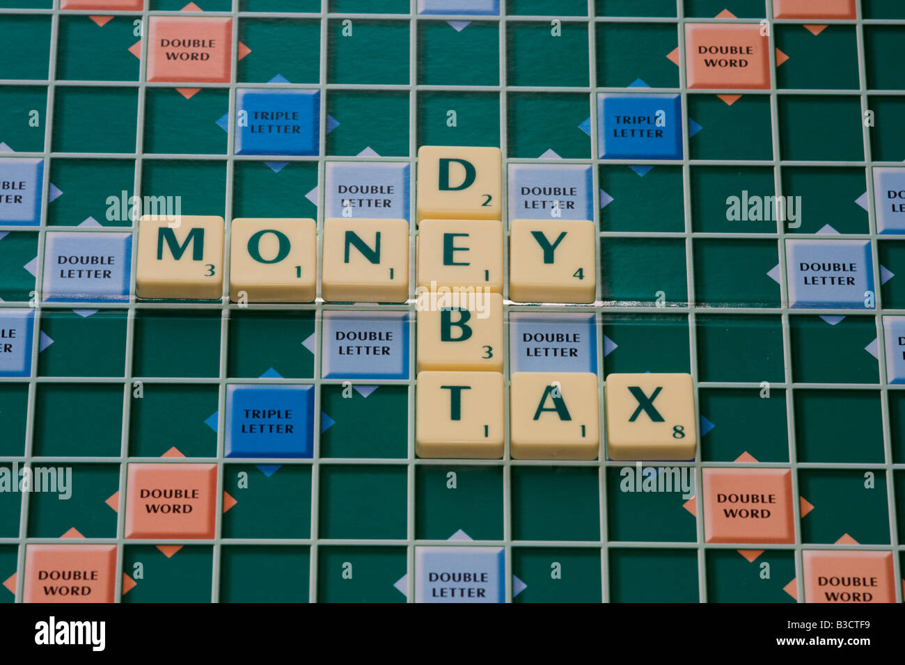 money,debt and tax - Stock Image