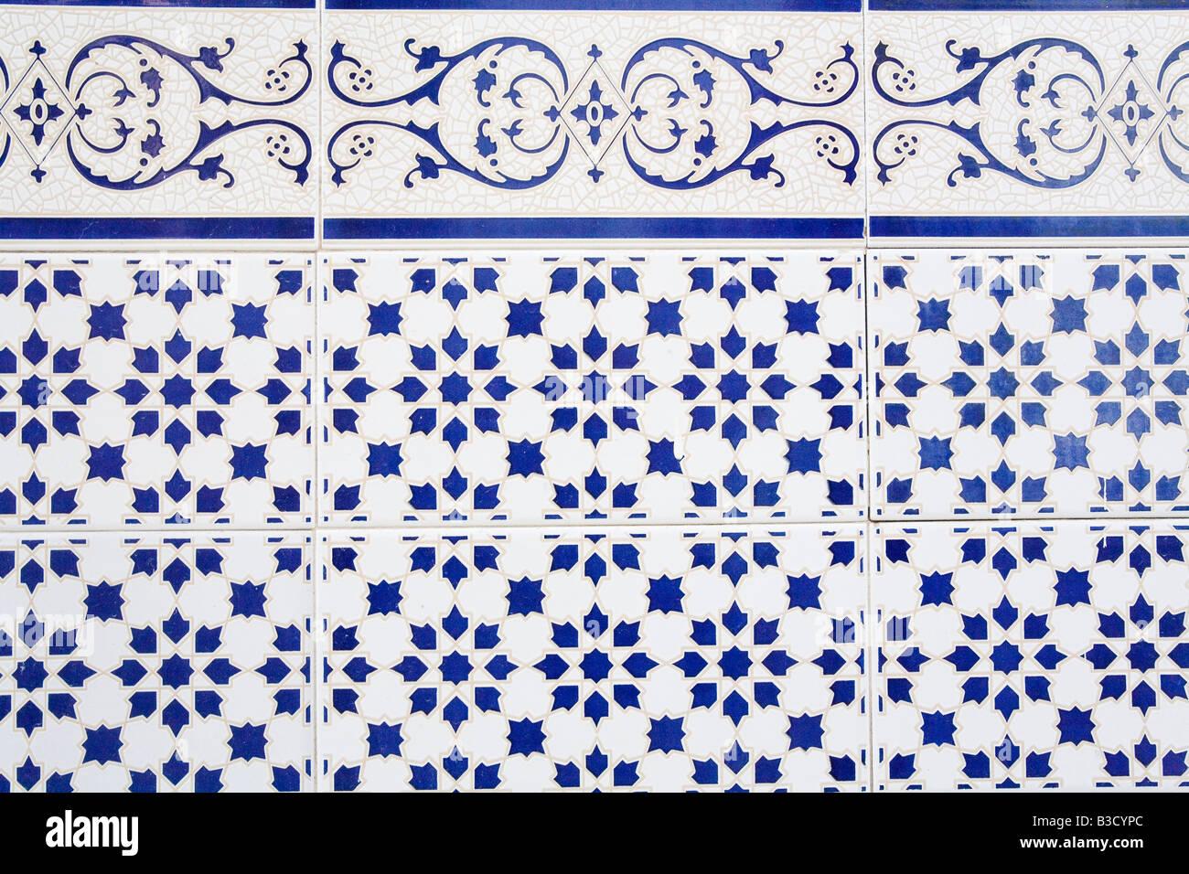 Wall Tiles, full frame - Stock Image